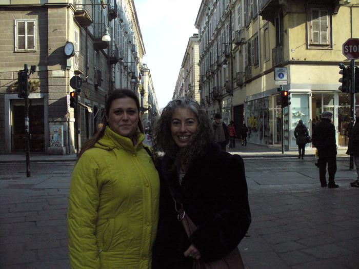 Con la dott.ssa Marguerite Rigoglioso a visitare il centro di Torino